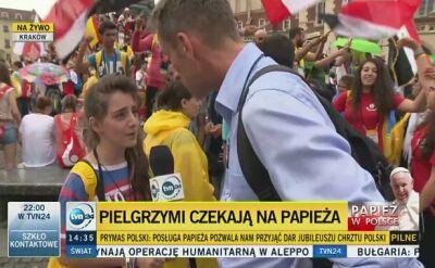 Na ŚDM do Polski przyjechali pielgrzymi z całego świata - m.in. z Syrii