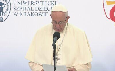 Papież: nasze społeczeństwo zanieczyszczone jest kulturą odrzucenia