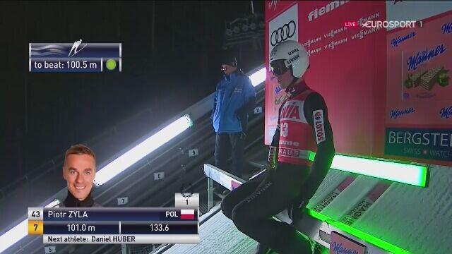 Drugi skok Piotra Żyły z drugiej serii w Predazzo w Niedzielę