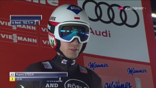 Kamil Stoch czwarty w sobotę w Predazzo
