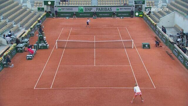 Skrót meczu 4. rundy French Open: Martina Trevisan - Kiki Bertens