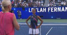 Rozmowa z Fernandez po wygranej w ćwierćfinale US Open
