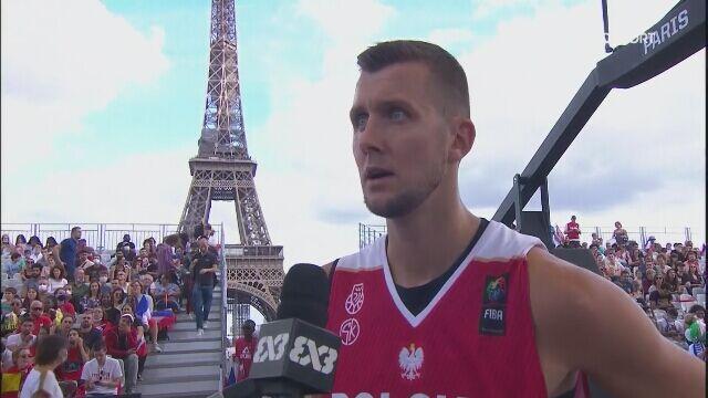 Przemysław Zamojski po wygranej nad Słowenią w ME w koszykówce 3x3