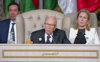 Prezydent Tunezji trafił do szpitala w stanie krytycznym (nagrania archiwalne)