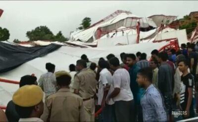 Wielu zabitych i rannych po zawaleniu się namiotu