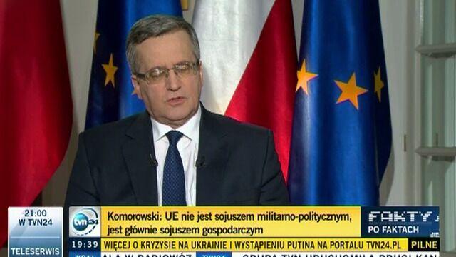 Prezydent o stanowisku USA wobec Rosji i Ukrainy