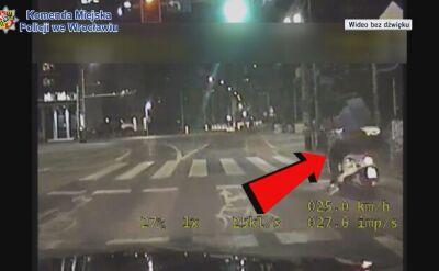 Kierowca skutera był pijany, jechał bez kasku