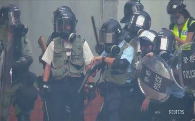 Protesty w Hongkongu. Ponownie użyto gazu łzawiącego