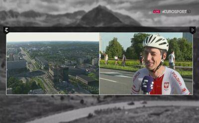 Maciej Paterski po 1. etapie Tour de Pologne