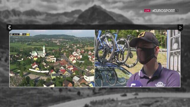 Lider Tour de Pologne w wywiadzie dla Eurosportu