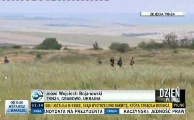 Reporter TVN24 na miejscu katastrofy: separatyści bronią dostępu do wraku samolotu, którzy sami zestrzelili