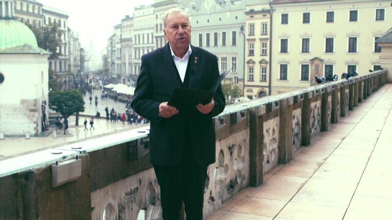 Życzenia dla Polski. Jerzy Stuhr czyta życzenia od Właściciela dwóch krów