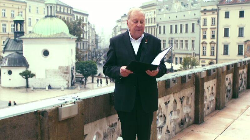 Życzenia dla Polski. Jerzy Stuhr czyta życzenia od Marty