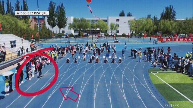 Operator kamery szybszy od sprinterów w biegu na 100 m