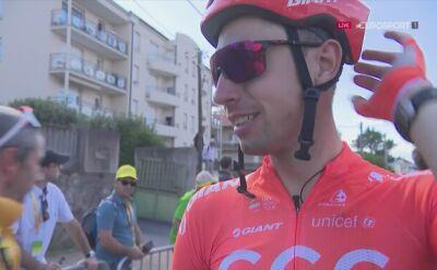 Łukasz Wiśniowski po 9. etapie Tour de France