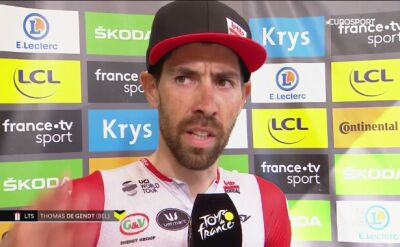 De Gendt po wygraniu 8. etapu Tour de France