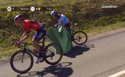 Nietypowa przeszkoda na trasie 5. etapu Tour de France