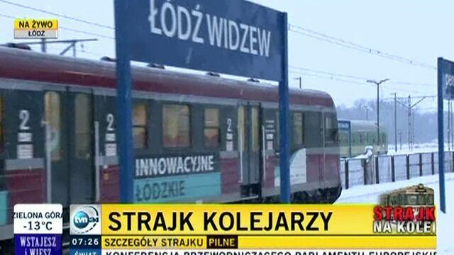 Pociągi stanęły także w Łodzi
