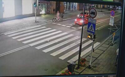 Szalona jazda rowerzysty skończyła się wypadkiem i mandatem