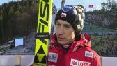 Kamil Stoch po konkursie na skoczni dużej