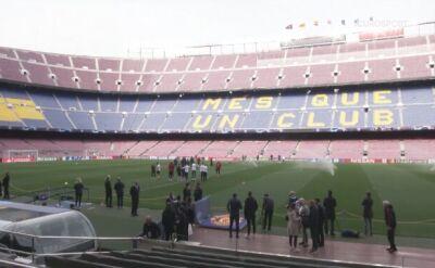 Manchester United trenował na Camp Nou