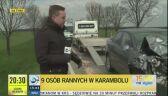 Wypadek na Dolnym Śląsku. Dziewięć osób poszkodowanych