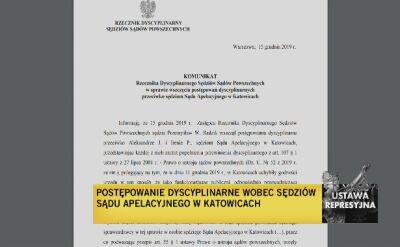Rzecznik dyscyplinarny: zarzuty dyscyplinarne dla dwóch sędzi z Katowic