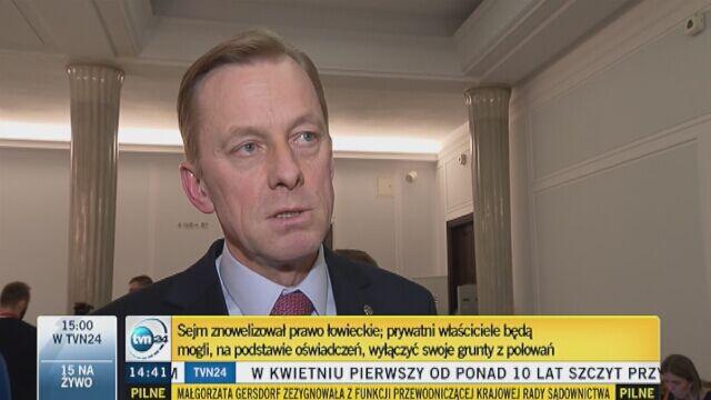 Paweł Suski (PO) komentuje nowelizację Prawa łowieckiego