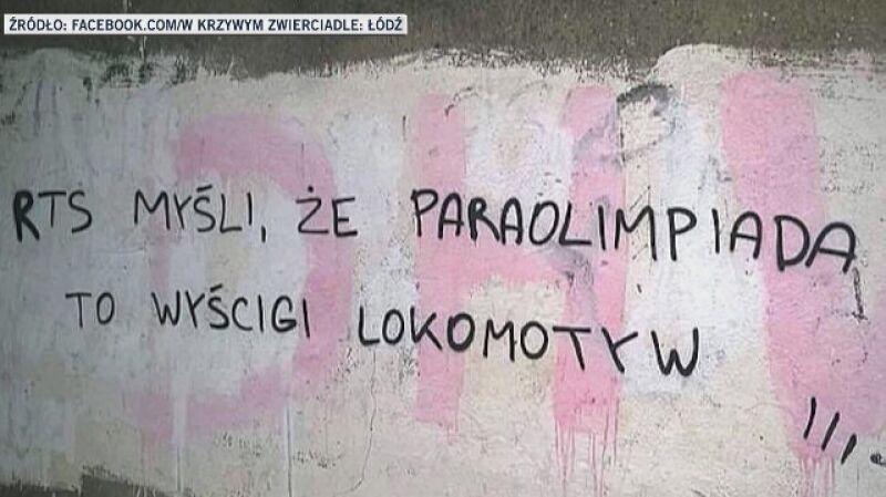 """""""Wojna"""" kibiców na murach w Łodzi"""