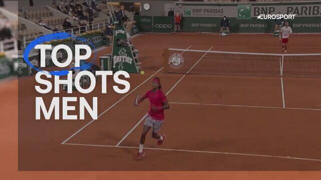 Trzy najlepsze zagrania singlistów w Roland Garros