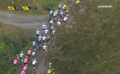Wypadek Sepa Vanmarcke w środku peletonu na wyścigu dookoła Flandrii