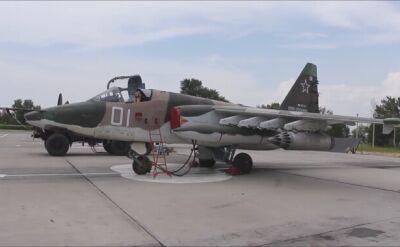 Rosyjskie Su-25 w bazie Kant