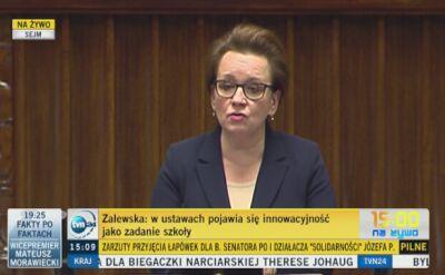 Anna Zalewska: Podejmujemy wysiłek budowania pracowni przedmiotowych