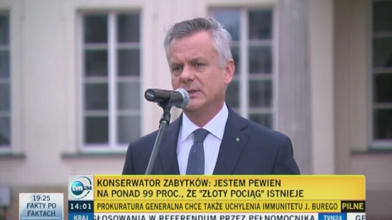 """Konserwator Zabytków: jestem pewny na ponad 99 proc., że """"złoty pociąg"""" istnieje"""