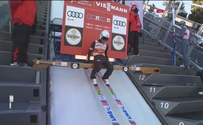 Skok Piotra Żyły z konkursu drużynowego w Willingen