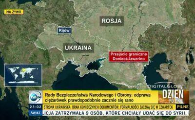 """Reporter TVN24 o ciężarówkach z """"białego konwoju"""""""