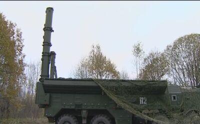 Ćwiczenia dywizjonu pocisków Iskander