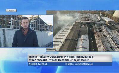Spłonęła fabryka w Turku