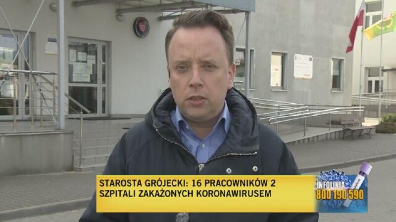 Dwa szpitale, 16 członków personelu zakażonych (relacja z 19 marca)