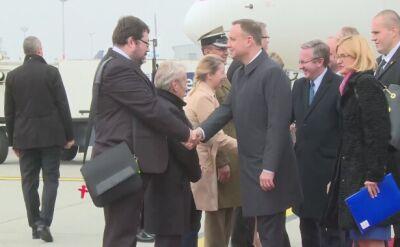 Andrzej Duda przyleciał do Budapesztu