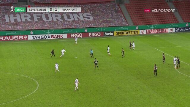 Puchar Niemiec: gol na 4:1 w meczu Bayer Leverkusen - Eintracht Frankfurt