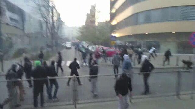 Przepychanki przy ul. Skorupki