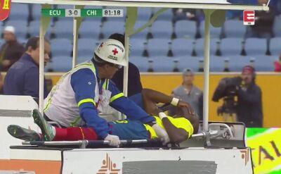 Przed policją z meczu uciekł karetką