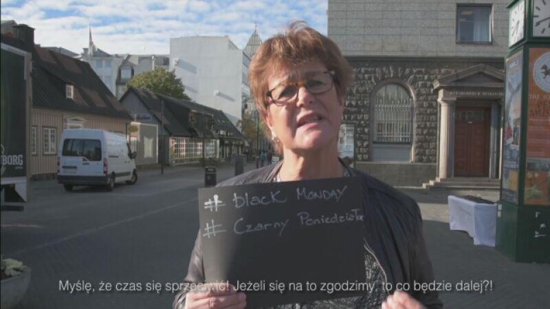 Islandzkie kobiety wspierają protestujące Polki