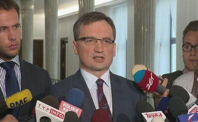Ziobro: nie uważam decyzji prezydenta za trafne
