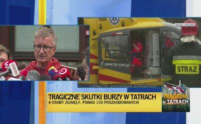 Tragiczne skutki burzy w Tatrach. 4 osoby zginęły, ponad 150 poszkodowanych