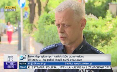 Policja o nastolatkach z Bielawy
