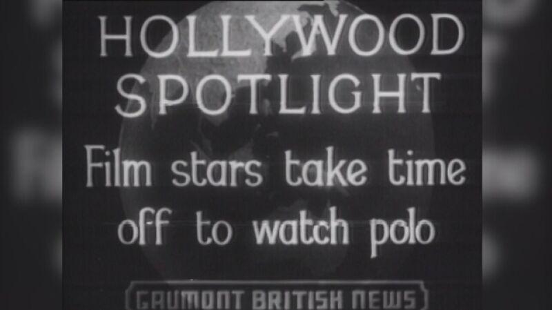 Joan Crawford na meczu polo z innymi gwiazdami