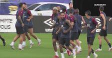 Piłkarze PSG trenują przed finałem Pucharu Ligi