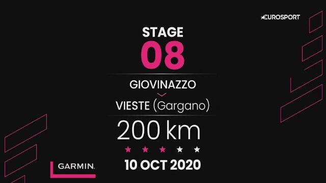Giro d'Italia - profil 8. etapu: Giovinazzo - Vieste